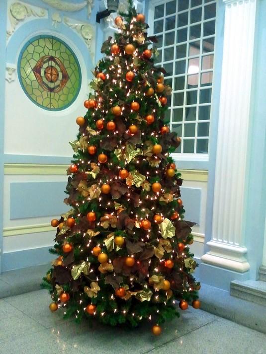 Rboles navidad color ocre b m rboles de navidad - Arbol de navidad colores ...