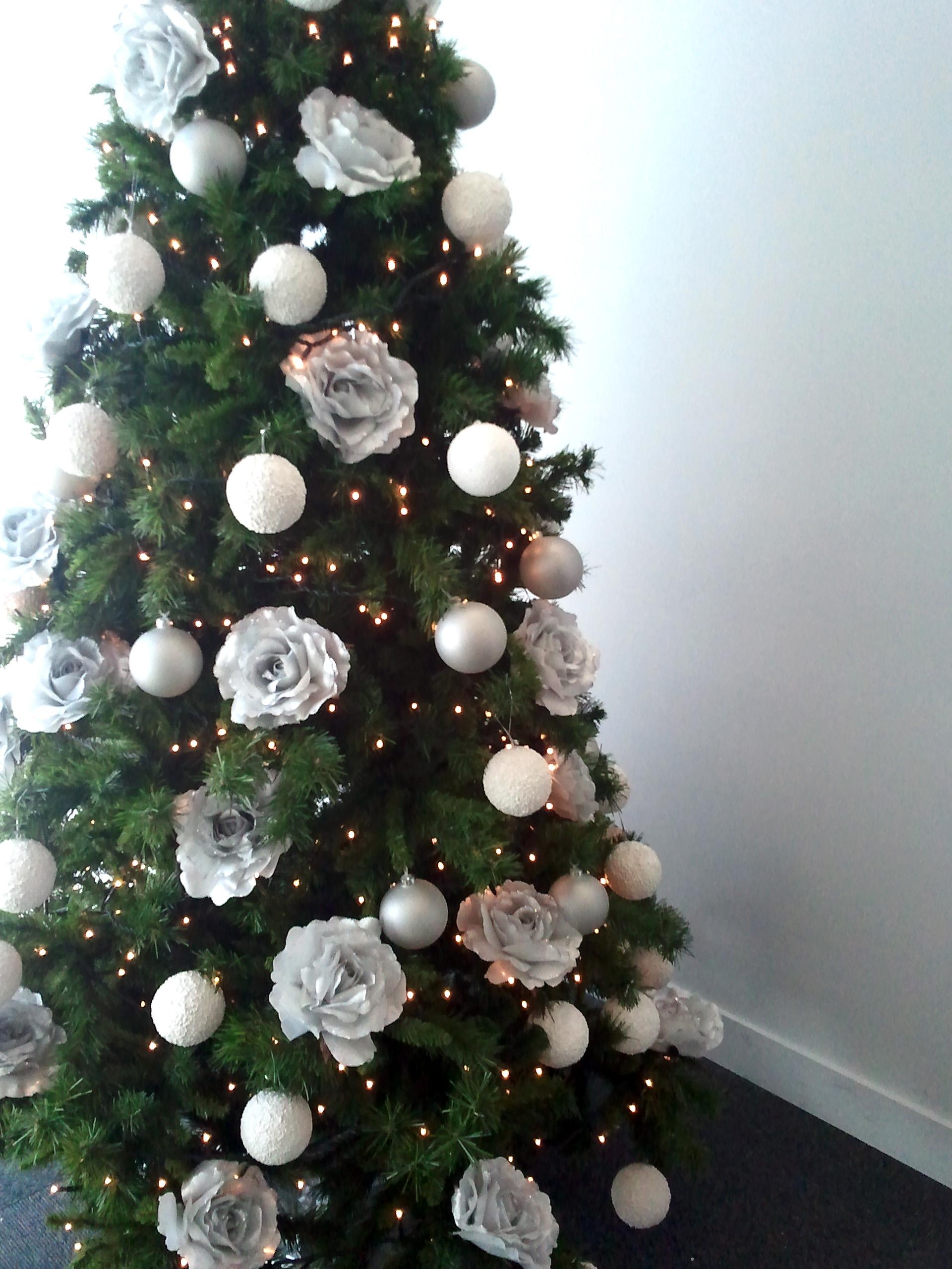 Rboles navidad color blanco b m rboles de navidad - Arbol de navidad blanco ...