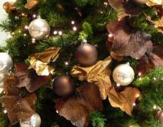 Árboles de Navidad color marrón