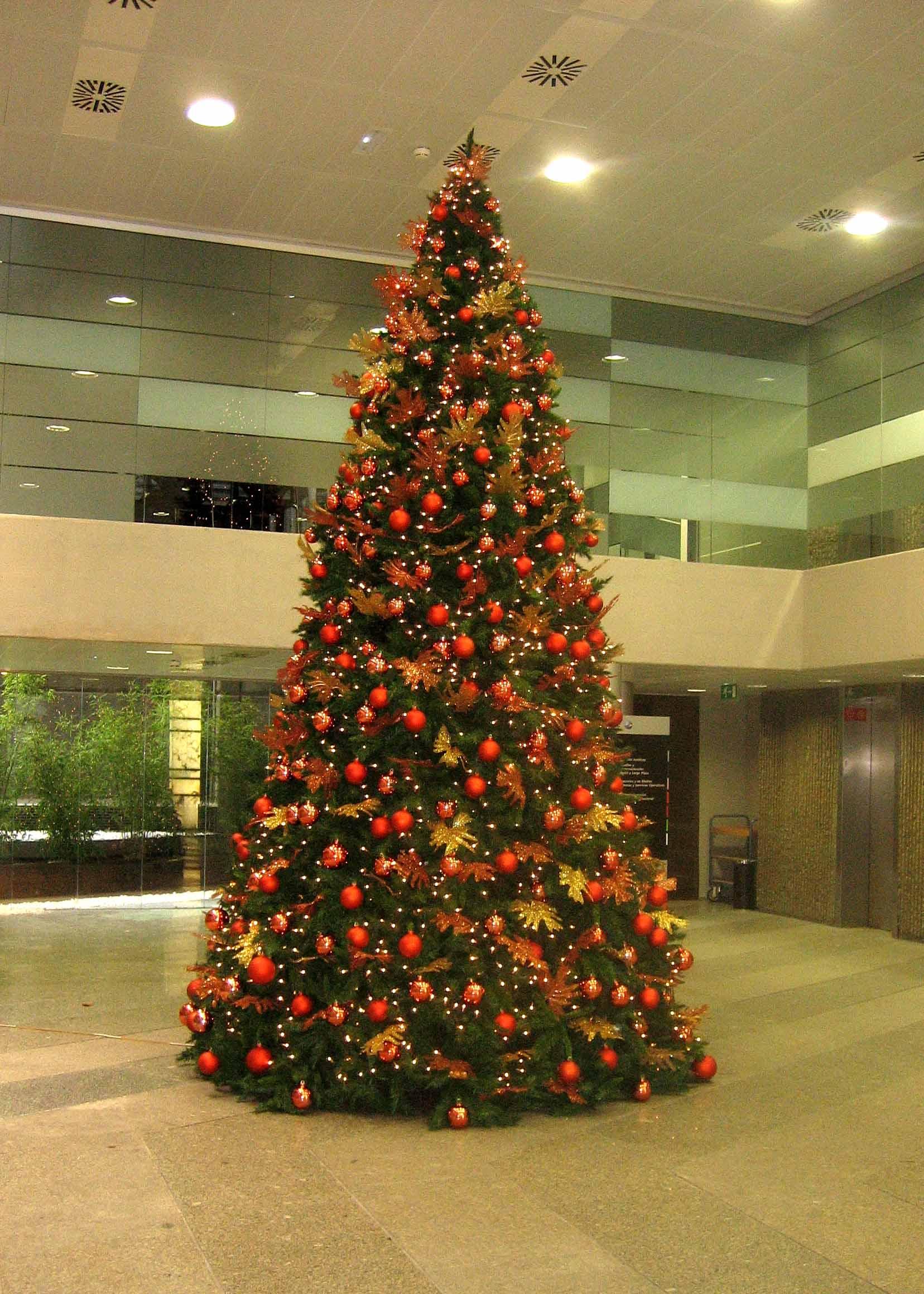 Rboles navidad color naranja b m rboles de navidad - Arboles de navidad colores ...