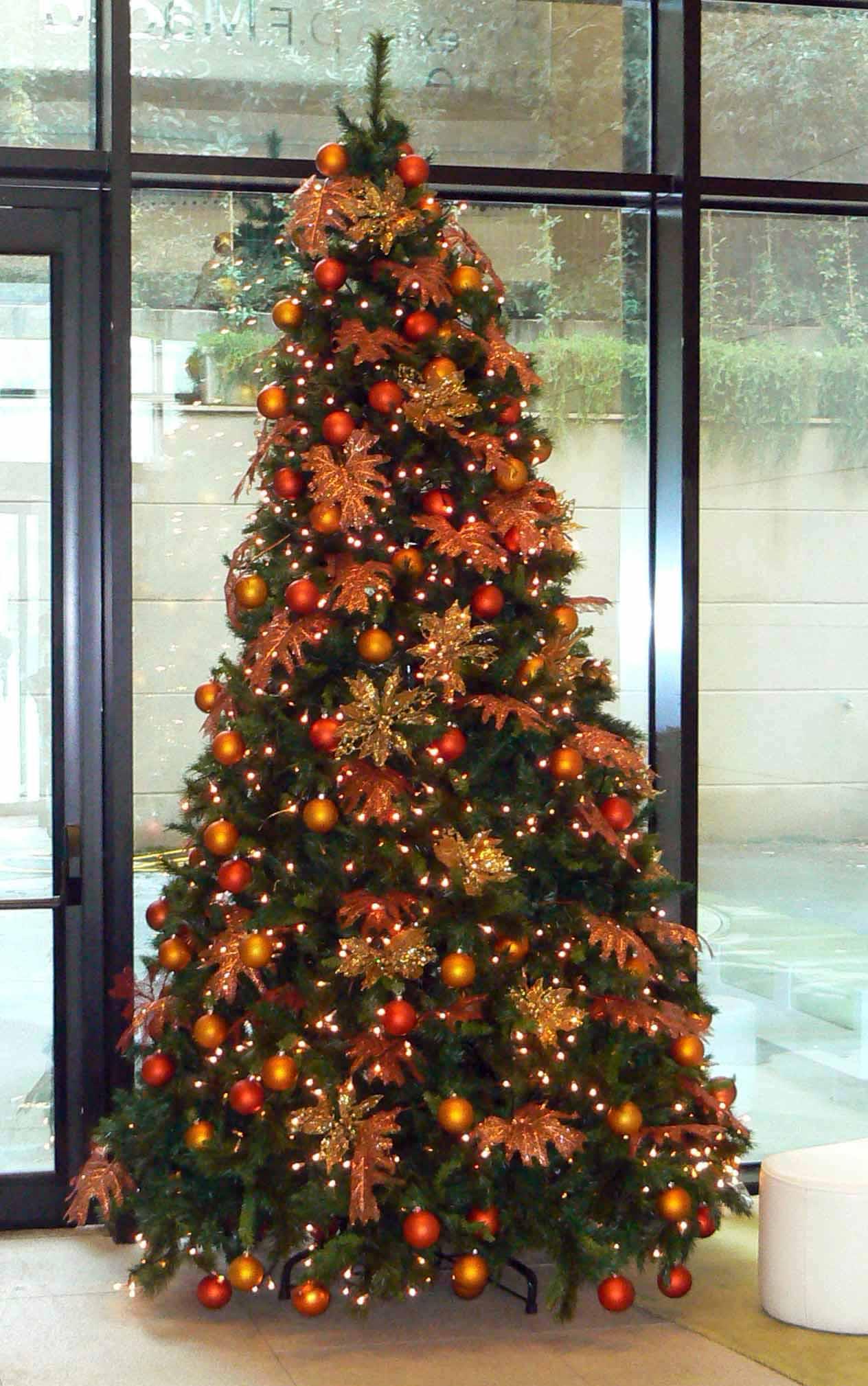 Arboles Navidad Color Naranja Bm Arboles De Navidad - Fotos-arboles-de-navidad-decorados