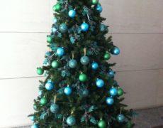 Árboles de Navidad color turquesa