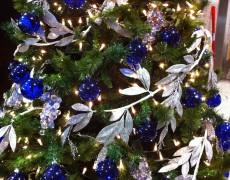 Árboles de Navidad color azul
