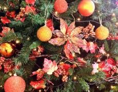 Árboles de Navidad color naranja