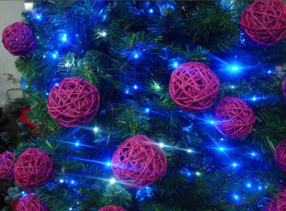 Luces azules b m rboles de navidad - Luces para arbol de navidad ...