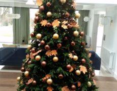 Árbol de navidad color ocre