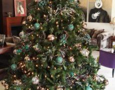 Árboles de Navidad color verde